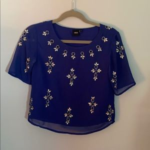 "ASOS blouse with ""bling"""